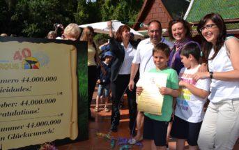 44-millionster Besucher im Loro Parque