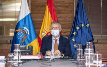 Ángel Víctor Torres Präsident Kanarische Inseln Corona-Maske