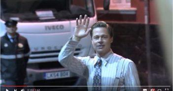 """Brad Pitt rettet Mädchen aus Gedränge Gran Canaria """"Allied"""" Screenshot Youtube"""