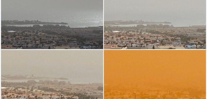 Fotos und Videos: Calima legt die Kanaren lahm