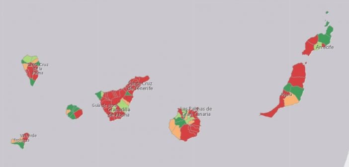 Corona-Karte Kanaren Ende April 2021