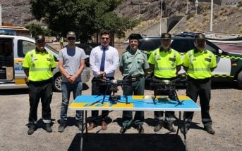 Drohnen Verkehr Kanaren Spanien Überwachung