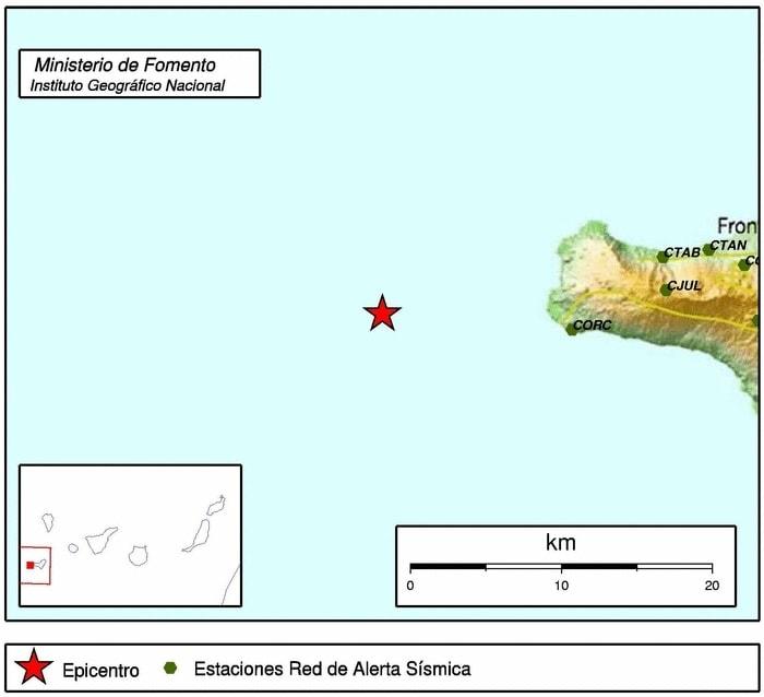 El Hierro Erdbeben Epizentrum