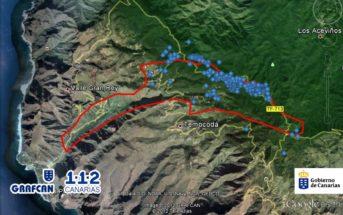 Feuer La Gomera betroffenes Gebiet