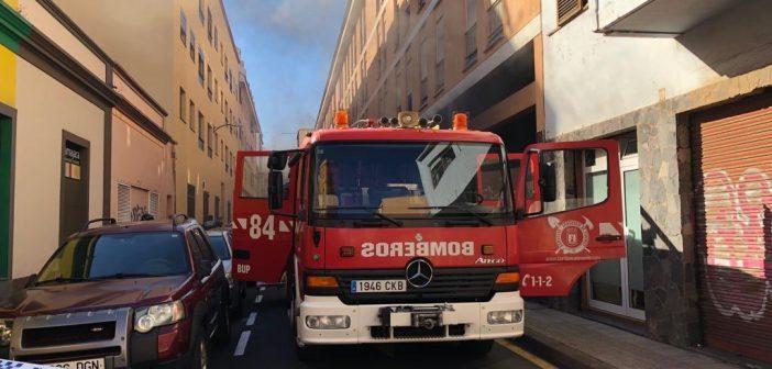 Feuer La Laguna Teneriffa Garage 2019 Feuerwehr