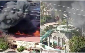 Feuer Restaurant Aqualand Gran Ccanaria Maspalomas 07-2019