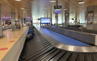 Flughafen Teneriffa-Süd Kofferband leer Corona