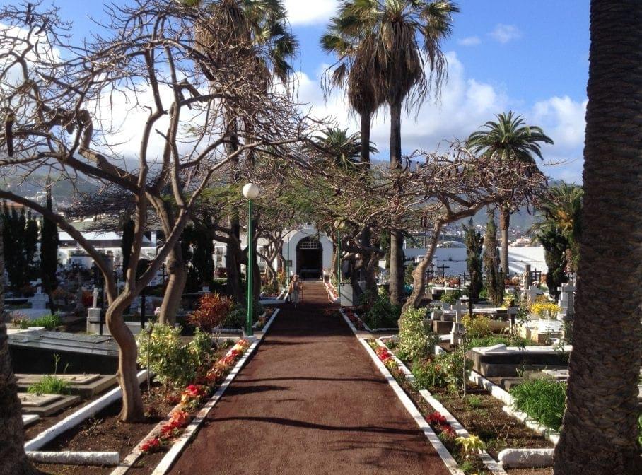 Friedhof Puerto de la Cruz Teneriffa Weg