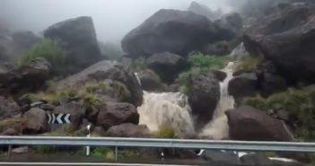Gran Canaria Unwetter Niederschlag 01-2021