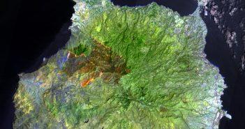 Gran Canaria Waldbrände Feuer Weltraum All ESA 08-2019