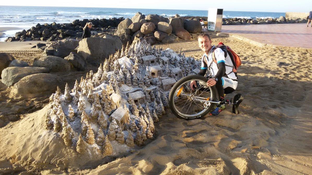 Heimo Katzbauer Einrad Gran Canaria Sandburg