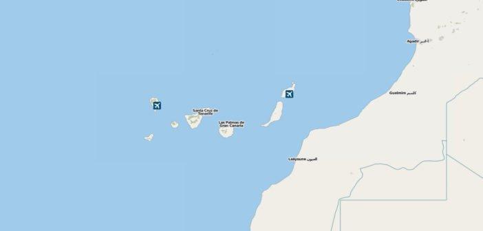 Die Kanaren liegen im Atlantik nahe Westafrikas