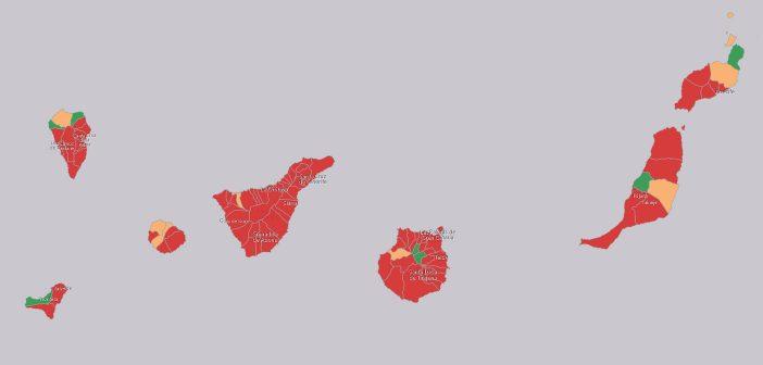Kanaren Corona-Karte Tage seit dem letzten positiven Fall 22.07.2021