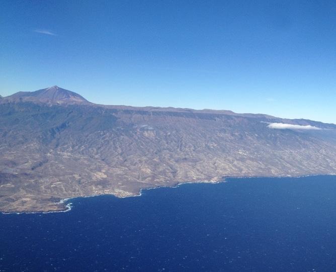 Kanaren Luftbild Flugzeug