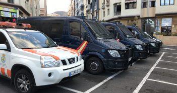 Kanaren Polizei abgeriegelt
