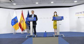 Kanaren-Präsident Ángel Víctor Torres und Tourismusministerin Yaiza Castilla