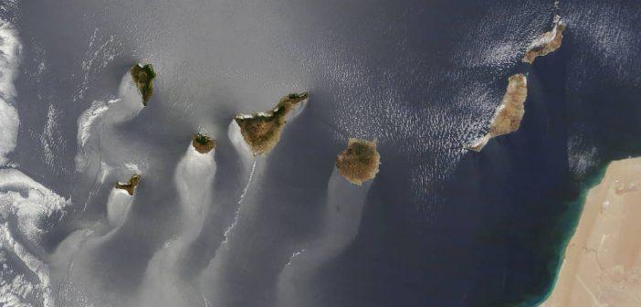 Kanaren Satelitenbild Luftaufnahme Nasa am 15. Juni 2013