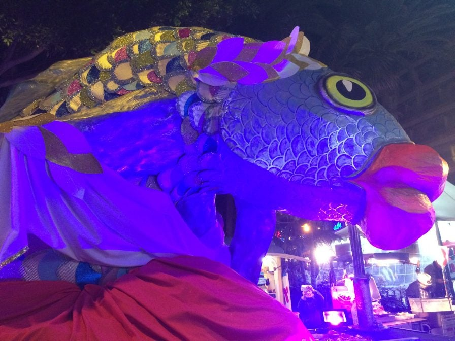 Karneval Teneriffa Beerdigung der Sardine Feuerwerk Nahaufnahme
