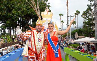 Karnevalszug Puerto de la Cruz 2016 Prinz Hanno Venetia Sara