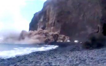 La Gomera Erdrutsch Valle Gran Rey Argaga Kanaren