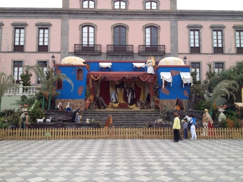 La Orotava Teneriffa Rathausplatz Krippe
