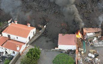 La Palma Vulkanausbruch Lava zerstört Häuser