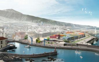Die Pläne des neuen Hafens von Puerto de la Cruz, Teneriffa