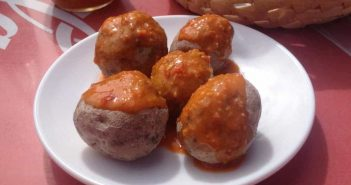 Papas arrugadas Runzelkartoffeln Mojo rojo