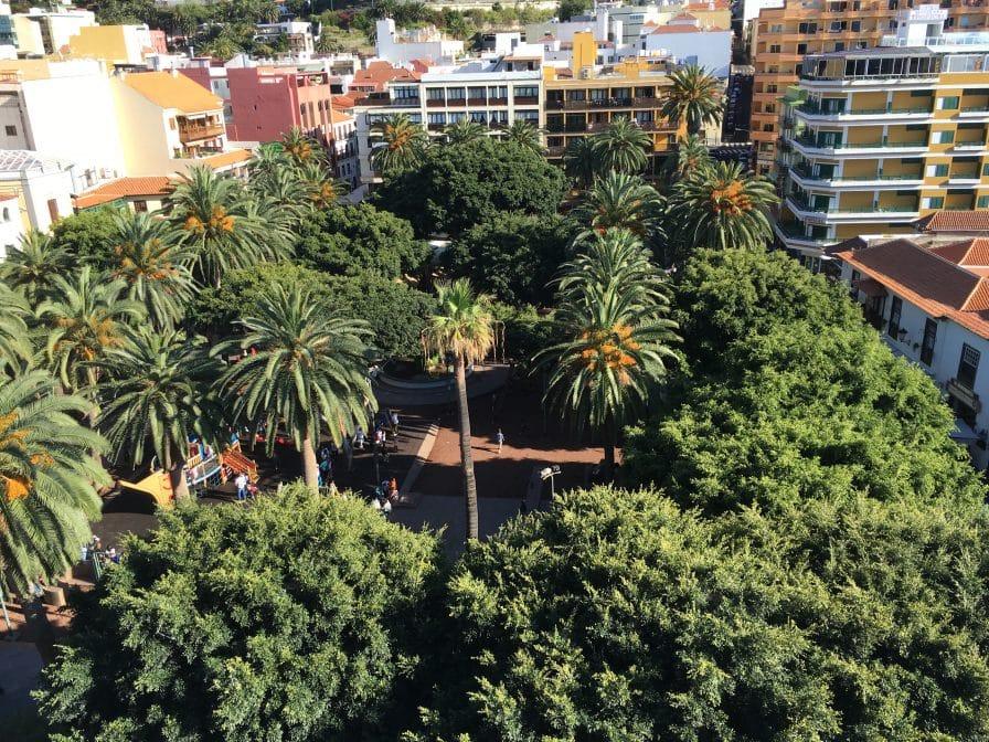 Plaza del Charco in Puerto de la Cruz von oben