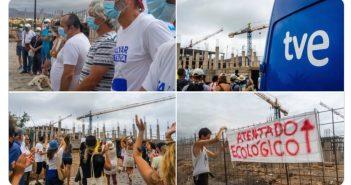 Protest La Tejita Teneriffa Hotel Neubau Granadilla