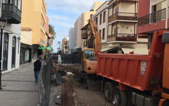 Puerto de la Cruz Teneriffa Umbau Bau Arbeiten Calle San Juan 2019