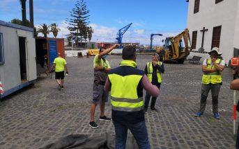 Hafen Arbeiten Regenwassersystem Puerto de la Cruz Teneriffa