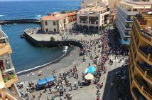 Hafen Puerto de la Cruz Teneriffa Vorbereitung Feier