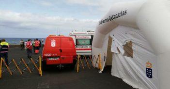 Rettung Teneriffa Puerto de la Cruz Mole Mauer 112 10-2019