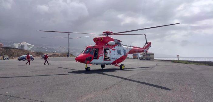 Rettungshubschrauber Teneriffa Kanaren Puerto de la Cruz