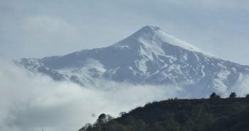 Schnee auf dem Teide Teneriffa