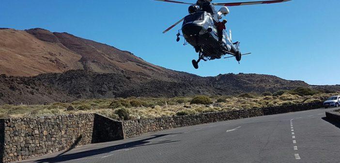Teide Teneriffa Seilbahn Rettung Helikopter