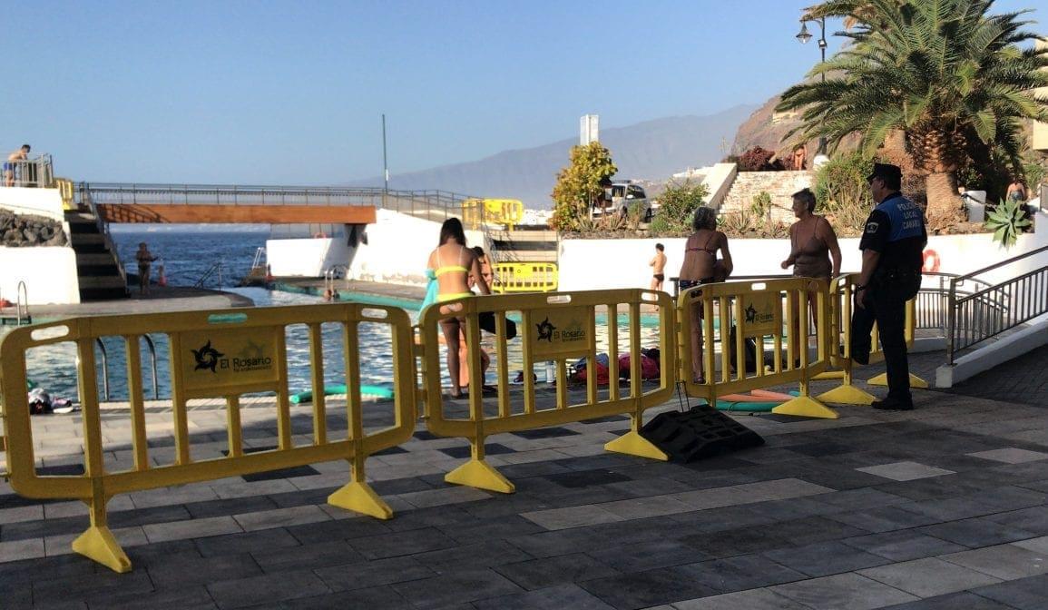 Teneriffa Corona- Polizei überwacht Wassergymnastik Stephan Zimmermann