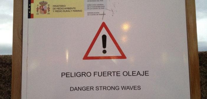 Teneriffa Spaß Warnschild