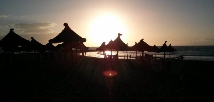 Teneriffa Strand Sonnenuntergang Kanaren