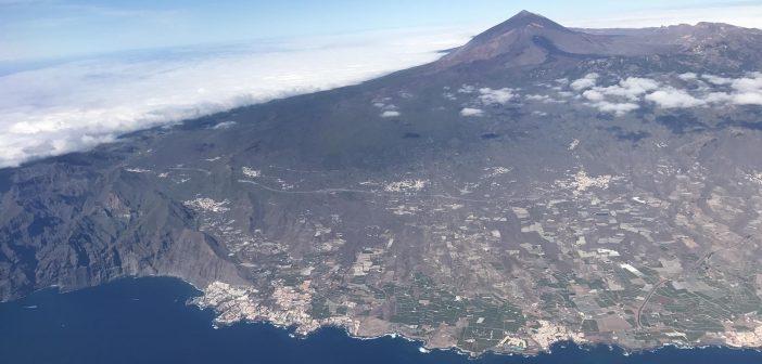 Teneriffa Teide Kanaren Küste Luftbild