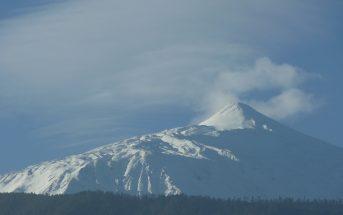 Teneriffa Teide schneebedeckt