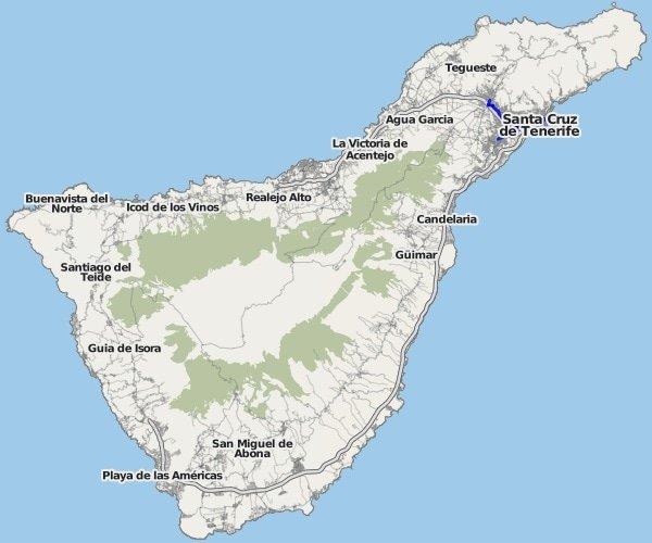 Landkarte Teneriffa