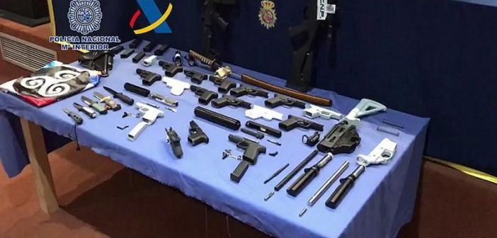 Teneriffa Polizei Waffen 3d-Drucker