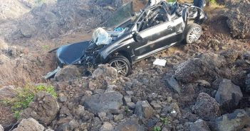 Auto-Unfall Teneriffa TF-373 11-2017