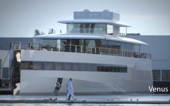 "Steve Jobs' Yacht ""Venus"". Foto: Screenshot Youtube, Video ""One More Thing"""
