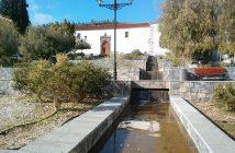 Vilaflor Teneriffa Altstadt Wasserspiel