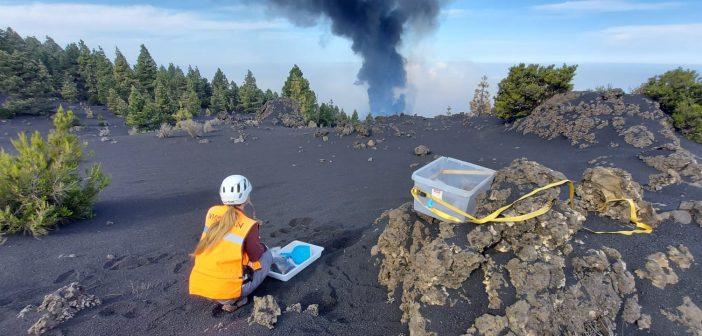 Vulkanausbruch La Palma Forscher sammelt Asche Involcan