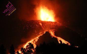 Vulkanausbruch La Palma Hauptkrater verstopft Lavasee Nordflanke Involcan