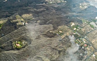 Vulkanausbruch La Palma Landschaft Lava Cabildo